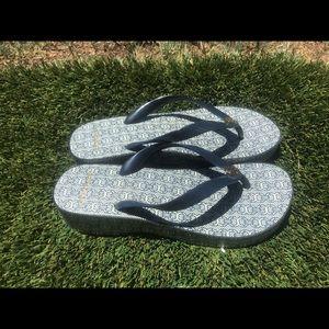 Women's Tory Burch Wedge Flip Flop Sandal sz 8